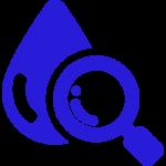 water sample blue
